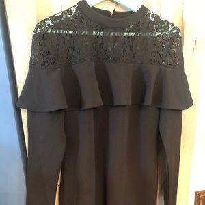 NWT Ruffle shoulder dress